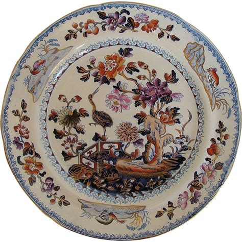 plate patterns davenport stone china plate chinoiserie stork pattern