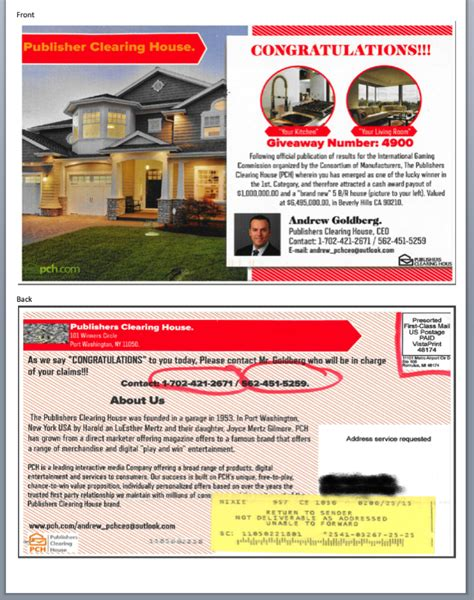 Publishers Clearing House Scams - how do i know if it s really pch pch blog