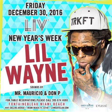 new year 2016 weekend lil wayne to host a new year s weekend at liv
