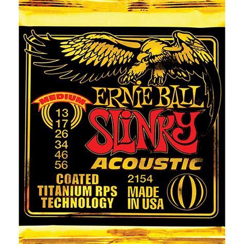 Stringssnar Gitar Ernie Coated Slinky Coated ernie 2154 coated slinky medium acoustic guitar