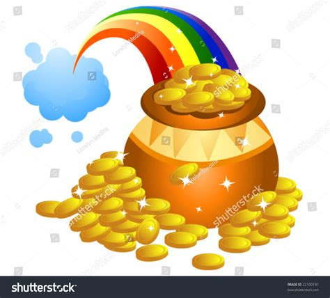 Stock Pot Golden pot gold vector stock vector 22100191