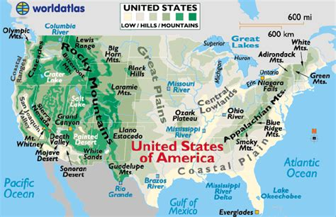 us map with cities and mountains infographics maps music and more united states visual