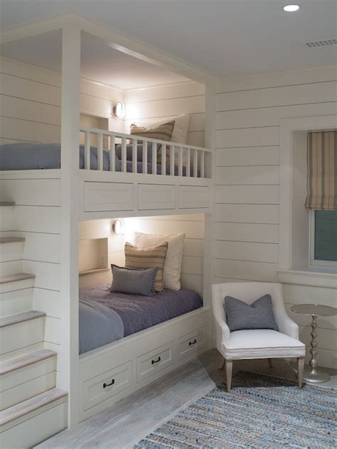 bunk beds  built  steps transitional boys room