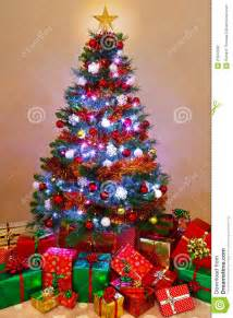 christmas tree with presents happy holidays