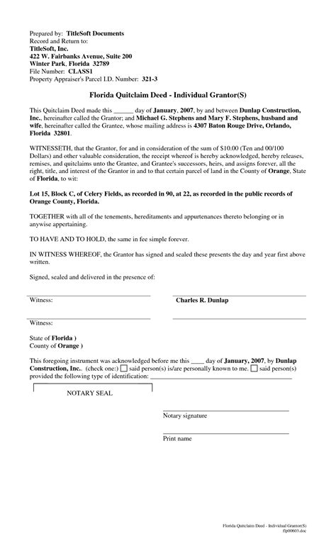 florida quit claim deed form template best photos of fl quit claim deed blank quit claim deed
