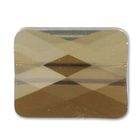 bronze metal l shade swarovski mini rechteck 5055 10x8mm bronze shade