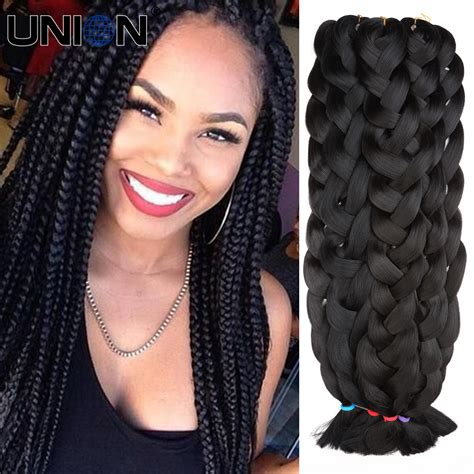 box braids hairstyle human hair or synthtic aliexpress com buy new braid hair synthetic braiding