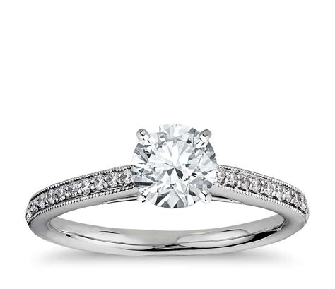 riviera pav 233 heirloom cathedral engagement ring in
