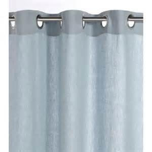 rideaux bleu gris