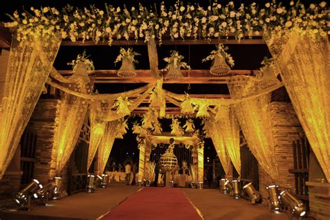 Indian Wedding Entrance Decorations by Vivah