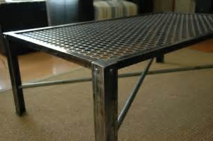Metal Coffee Table Industrial Metal Coffee Table Mid Century Modern Design