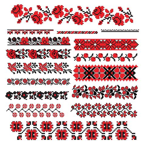 cross stitch patterns 07 vector free vector 4vector