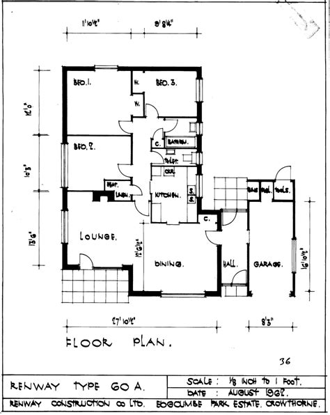 Home Plan Architects by The Renway Type 60a Bungalow Bungalowjournal Com