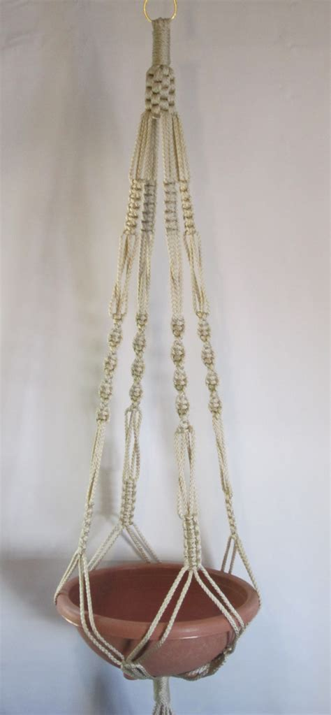 6mm Macrame Cord - macrame plant hanger vintage style 48 inch 6mm pearl cord
