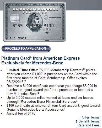 Mercedes Platinum Card by The Other Great Amex Platinum Offer Is The 75k Mercedes