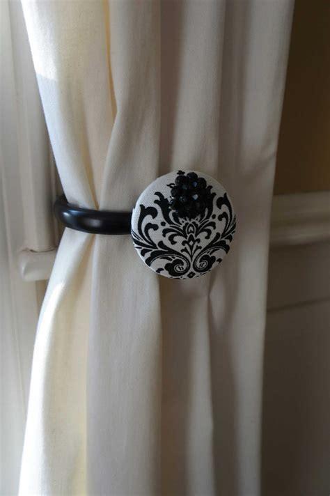 black damask curtain tie backs curtains