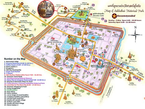 sukhothai historical park map sukhothai phuket guided private daily tour