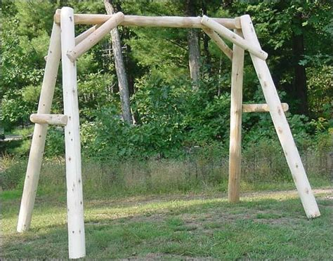 swing set frames white cedar unstained swing frame contemporary kids