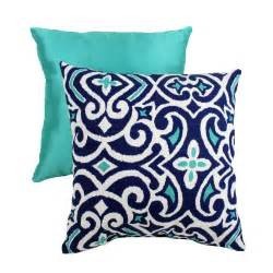navy aqua and white pillow home decor