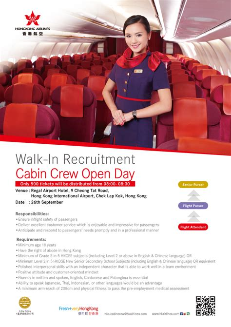 airlines recruiting cabin crew hong kong airlines walk in cabin crew recruitment