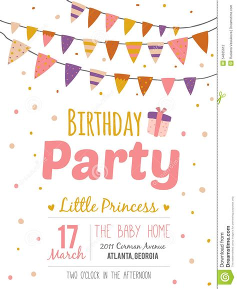 design poster happy birthday inspirational happy birthday poster for girl stock vector