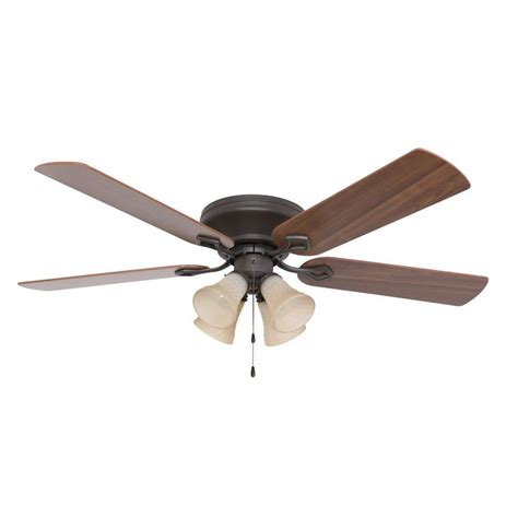 monte carlo homebuilder ii 52 in bronze ceiling fan with