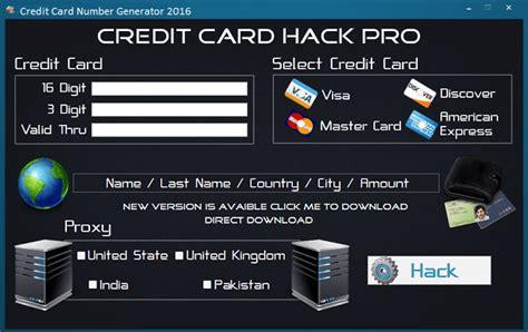 Sle Credit Card Number Generator Credit Card Number Generator Validator 2016 Www Hackswork