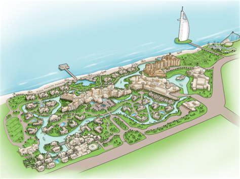 jumeirah resort map concierge map for dubai s madinat jumeirah on behance