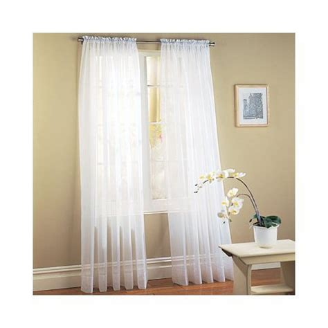 curtains 60 inches long elegant comfort voile84 window curtains sheer panel with 2