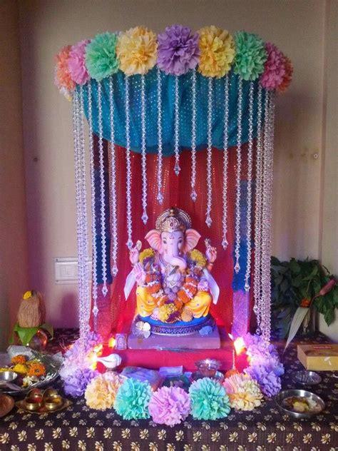 pin  swetha prakash  ganpati decorations ganpati