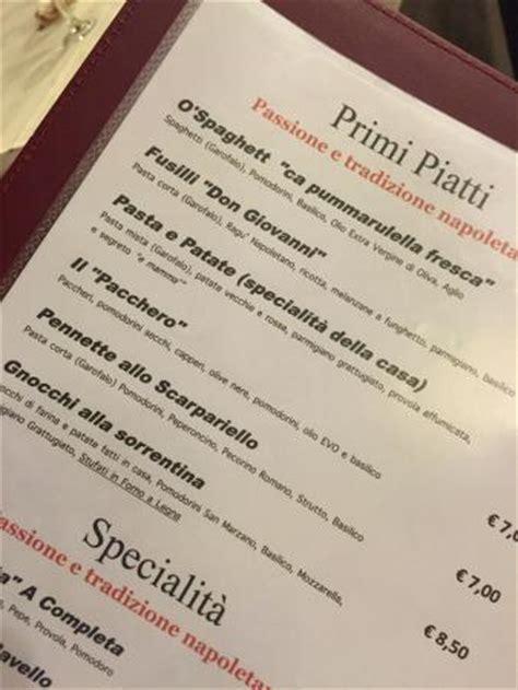 cucina napoletana primi piatti 249 primi piatti picture of idon pizzeria e quot vera