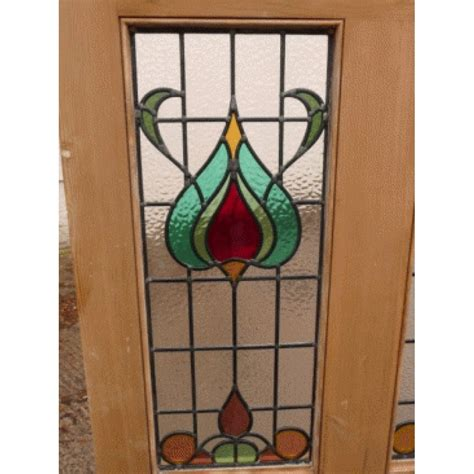 The Stained Glass Door Company 5 Panel Nouveau Stained Glass Door Buy From Phs