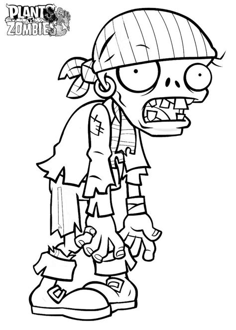 coloring page of a zombie plants vs zombies coloring pages coloring home