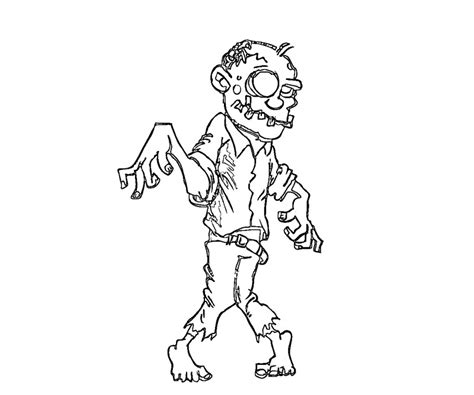 coloring page of a zombie free printable zombies coloring pages for kids