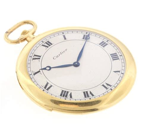 cartier yellow gold minute repeater pocket for sale