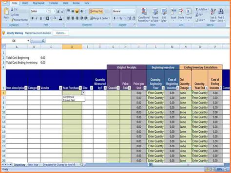 product inventory spreadsheet delli beriberi co