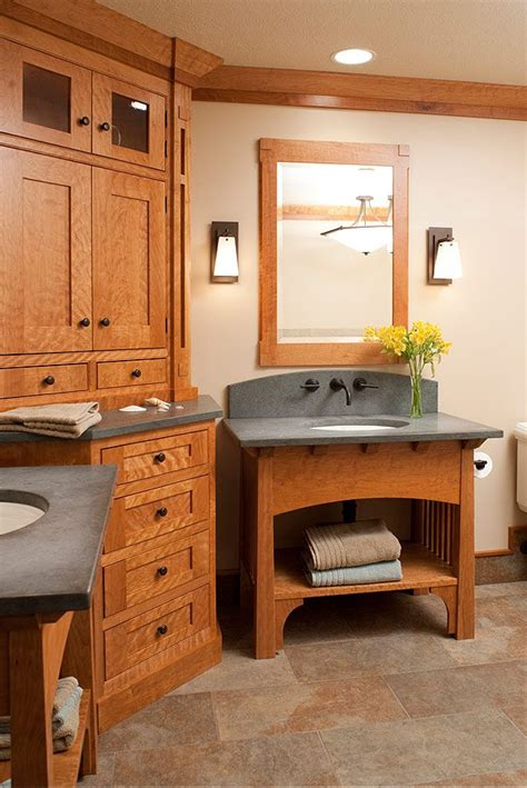 arts and crafts bathroom vanity amish custom bathroom cabinets by mullet cabinet in