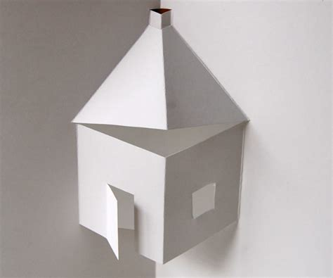 How To Make A House Using Paper - easy house