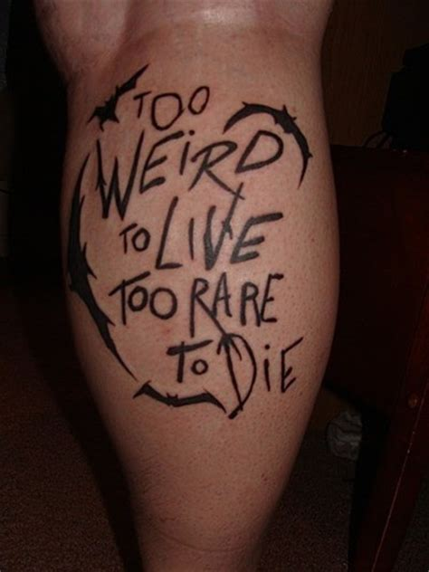 hunter s thompson tattoo to live you
