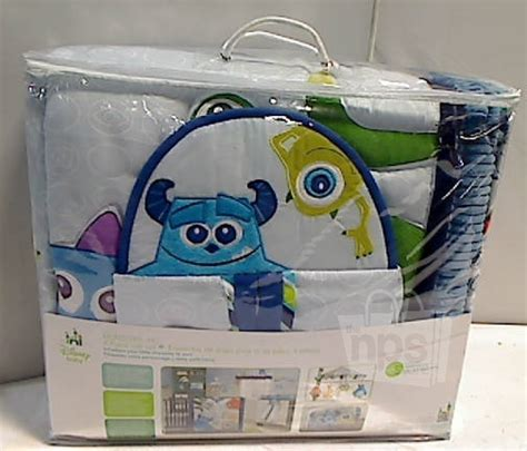 monster inc crib bedding 4 piece disney baby 25953 monsters inc crib bedding set new sealed ebay