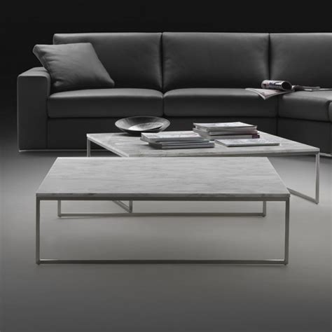 Porto Square Marble Coffee Table & Chrome