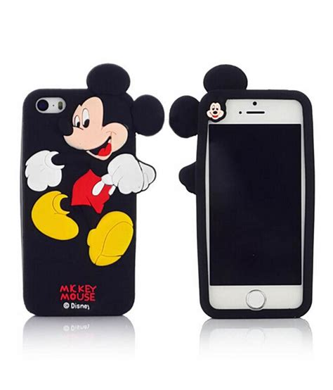 Mickey Mouse Iphone All Hp 1 go crazzy mickey mouse soft silicone back cover for iphone 6 4 7 inch black plain back