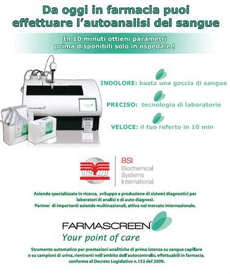 test colesterolo farmacia auto analisi sangue farmacia cimarelli