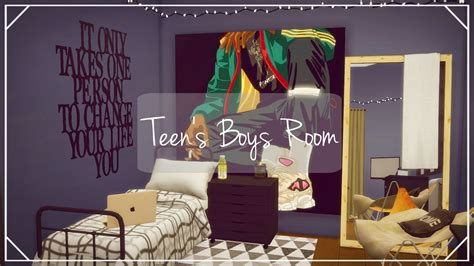 find your 4 suitable boys room d 233 cor ideas here midcityeast the sims 4 teenage boy s room room build speed build