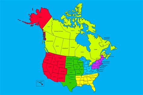 map of canada and the united states canada and united states map my