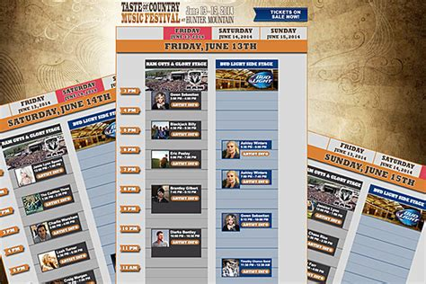 country music festival jacksonville 2014 lineup 2014 taste of country music festival reveals complete lineup