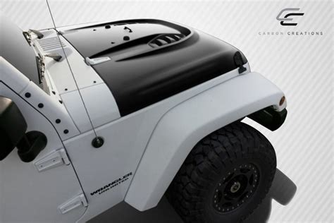 Jeep Power Dome 07 16 Jeep Wrangler Power Dome Carbon Fiber Creations