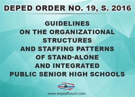 staffing pattern of the organization orders archives deped forum