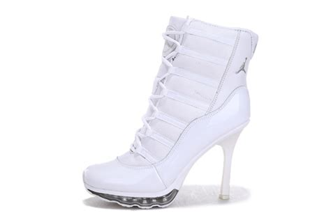 nike high heeled sneakers nike air 11 high heel sneakers white