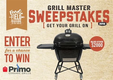 Grill Sweepstakes - primo ceramics grill sweepstakes